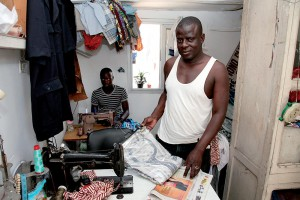 Tailor at work in Dakar