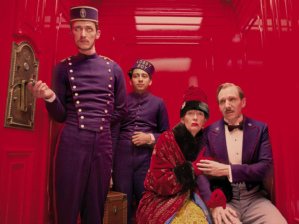 Elevator life at the Grand Budapest Hotel