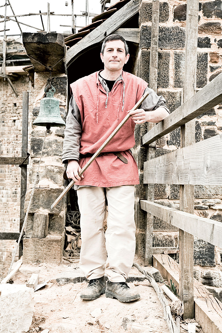 Florian Renucci (48) master-mason at Guedelon